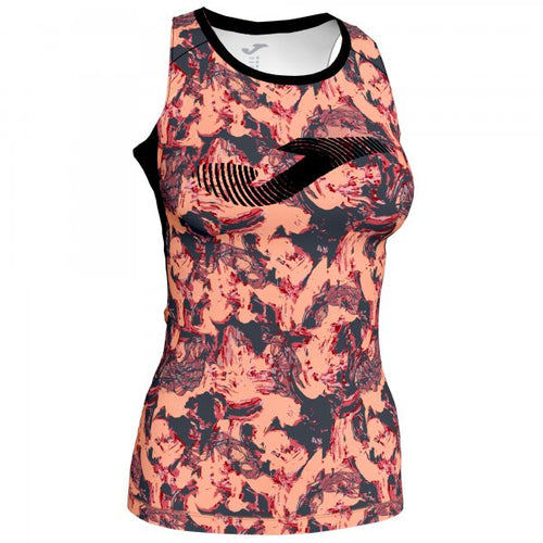 JOMA T-SHIRT PRINTED PINK-ANTHRACITE SLEEVELESS WOMAN