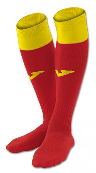 JOMA FOOTBALL SOCKS CALCIO 24 RED-YELLOW -PACK 4-