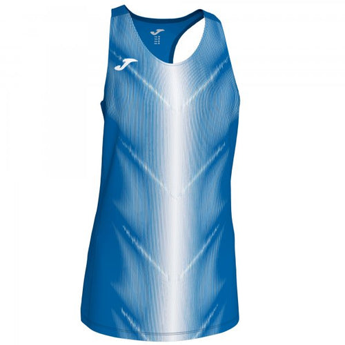 JOMA CAMPUS III T-SHIRT ROYAL-WHITE SLEEVELESS