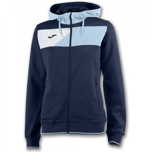 JOMA HOODED JACKET CREW II NAVY-SKYBLUE WOMAN