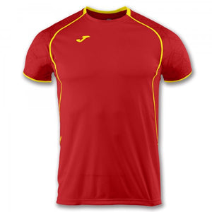 JOMA T-SHIRT OLIMPIA RED FLUOR-YELLOW S/S