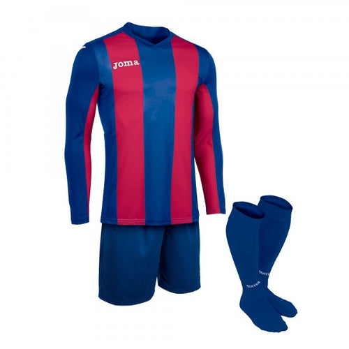 JOMA SET PISA BLUE-BURGUNDY T-SHIRT L/SSHORTSOCKS