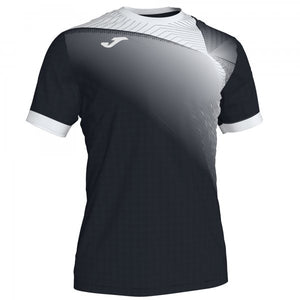 JOMA HISPA II T-SHIRT BLACK-WHITE S/S