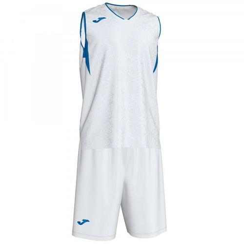 JOMA CAMPUS SET BASKET WHITE-ROYAL SLEEVELES