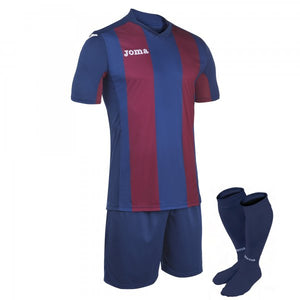 JOMA SET PISA BLUE-BURGUNDY T-SHIRT S/SSHORTSOCKS