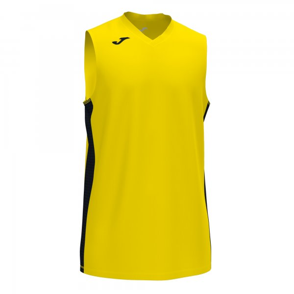 JOMA CANCHA III T-SHIRT YELLOW-BLACK SLEEVELESS