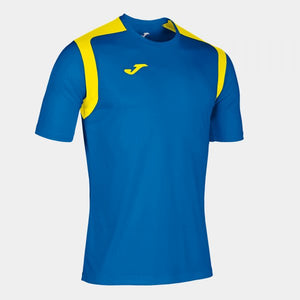 JOMA T-SHIRT CHAMPIONSHIP V ROYAL-YELLOW S/S