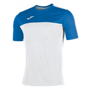 JOMA SHORT-SLEEVED T-SHIRT WITH A ROUND COLLAR AND CONTRASTING COLOUR YOKE AT THE FRONT. STANDS OUT DUE TO ITS DESIGN, WITH FORWARD SHOULDER SEAM AND EMBROIDERED LOGO.