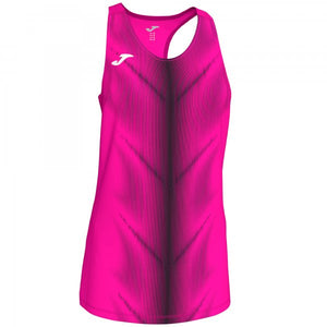JOMA OLIMPIA T-SHIRT FLUOR PINK-BLACK SLEEVELESS WOMAN