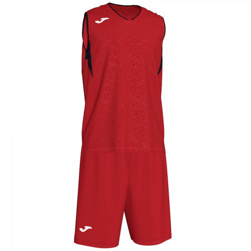 JOMA CAMPUS SET BASKET RED-BLACK SLEEVELES