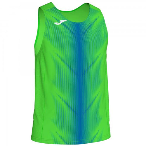 JOMA OLIMPIA T-SHIRT FLUOR GREEN-ROYAL SLEEVELESS