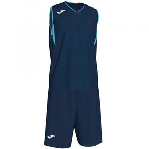 JOMA CAMPUS SET BASKET DARK NAVY-FL TURQUIOSE SLEEVELES