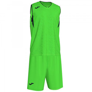 JOMA CAMPUS SET BASKET FLUOR GREEN-BLACK SLEEVELESS