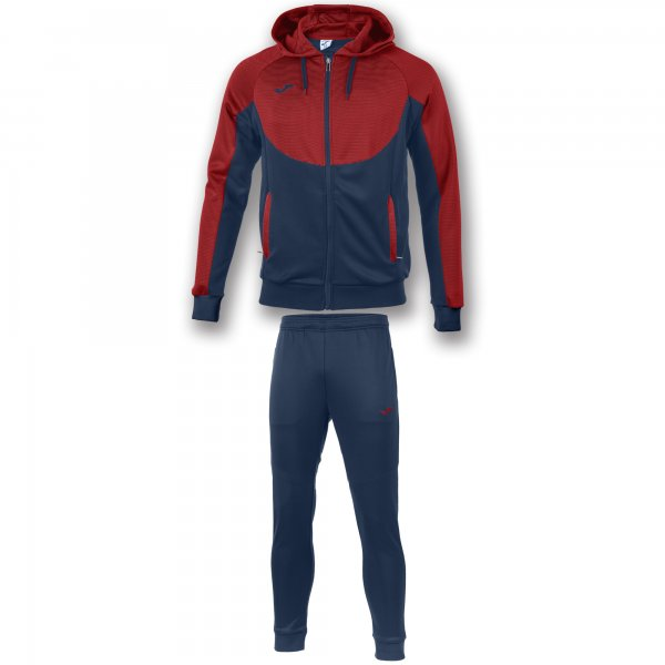 JOMA TRACKSUIT HOODIE ESSENTIAL NAVY-RED