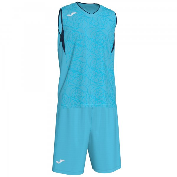 JOMA CAMPUS SET BASKET F TURQUOISE- DARK NAVY SLEEVELES