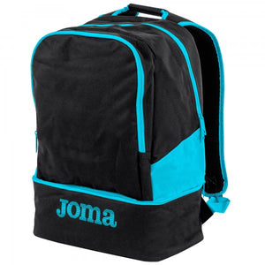 JOMA BACKPACK ESTADIO III BLACK-FLUOR TURQUOISE