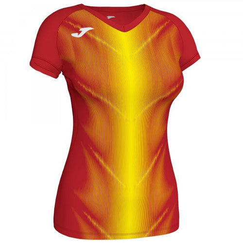 JOMA OLIMPIA T-SHIRT RED-YELLOW S/S WOMAN
