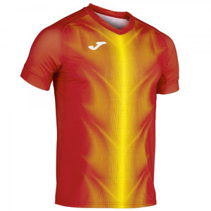 JOMA OLIMPIA T-SHIRT RED-YELLOW S/S