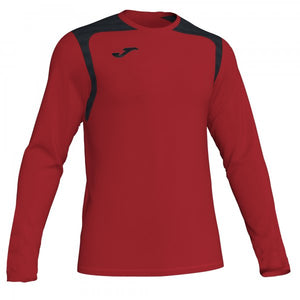 JOMA T-SHIRT CHAMPIONSHIP V RED-BLACK L/S