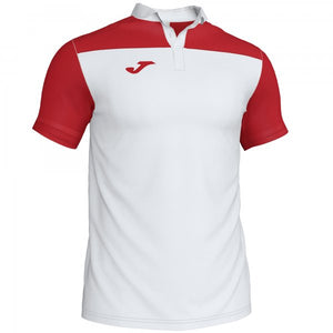 JOMA POLO SHIRT COMBI WHITE-RED S/S