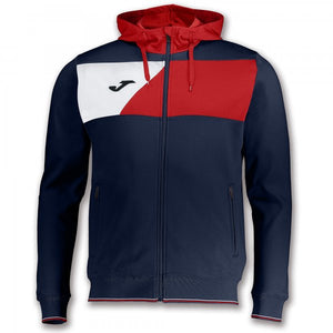 JOMA JACKET HOODIE POLY CREW II NAVY-RED