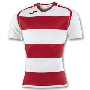 JOMA T-SHIRT PRORUGBY II RED-WHITE S/S