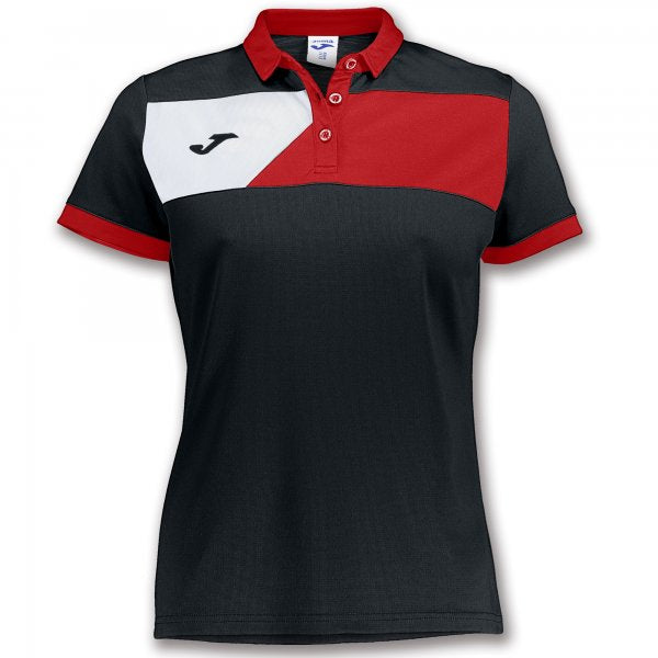 JOMA POLO CREW II S/S BLACK-RED WOMAN