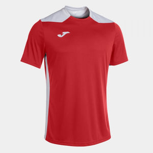JOMA CHAMPIONSHIP VI SHORT SLEEVE T-SHIRT RED WHITE
