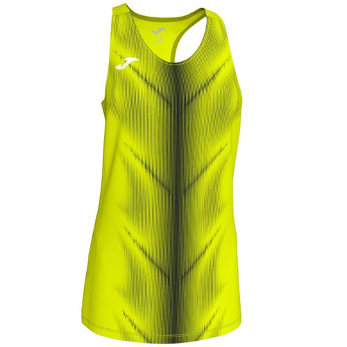 JOMA OLIMPIA T-SHIRT F.YELLOW-BLACK SLEEVELESS WOMAN