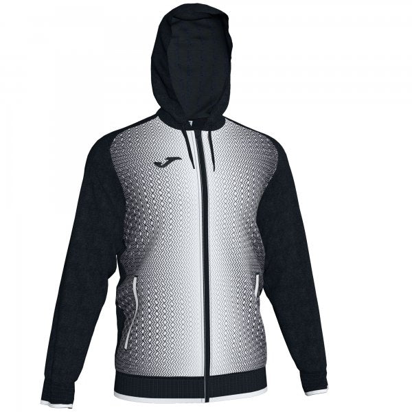 JOMA JACKET HOODED SUPERNOVA BLACK-WHITE