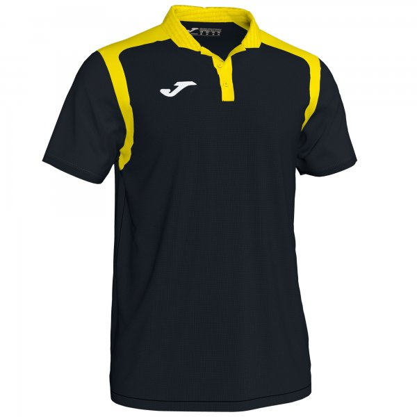 JOMA POLO CHAMPION V FLUOR BLACK-YELLOW S/S