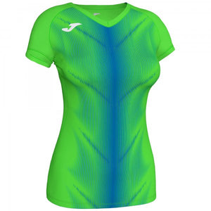 JOMA OLIMPIA T-SHIRT FLUOR GREEN-ROYAL S/S WOMAN