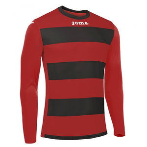 JOMA T-SHIRT EUROPA III BLACK-RED L/S