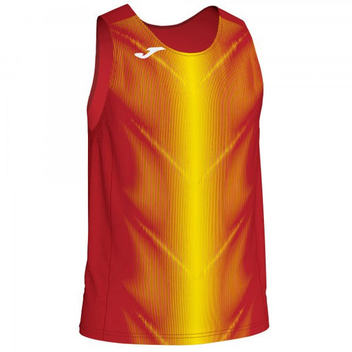 JOMA OLIMPIA T-SHIRT RED-YELLOW SLEEVELESS