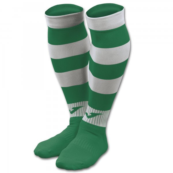 JOMA FOOTBALL SOCKS ZEBRA II GREEN-WHITE -PACK 4-