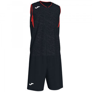 JOMA CAMPUS SET BASKET BLACK-RED SLEEVELESS
