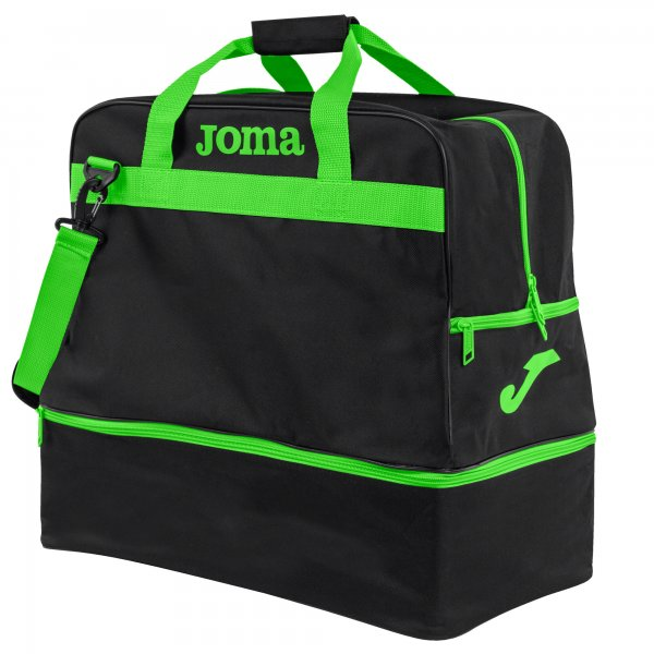 JOMA BAG TRAINING III BLACK-FLUOR GREEN -LARGE-
