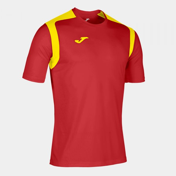 JOMA T-SHIRT CHAMPIONSHIP V RED-YELLOW S/S