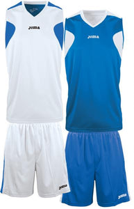 JOMA SET BASKET REVERSIBLE WHITE-ROYAL