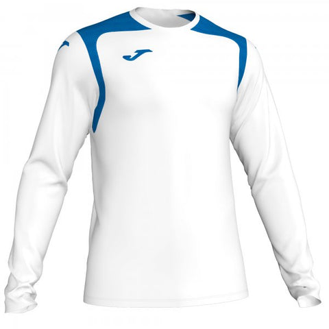 JOMA T-SHIRT CHAMPION V WHITE-ROYAL NAVY L/S