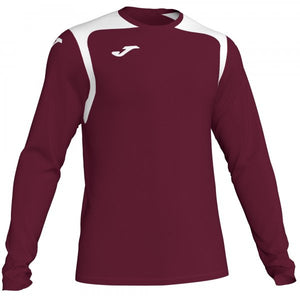 JOMA T-SHIRT CHAMPION V BURGUNDY-WHITE L/S