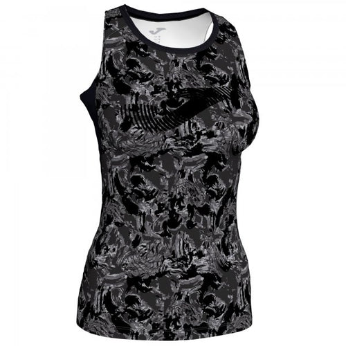 JOMA T-SHIRT PRINTED BLACK-ANTHRACITE SLEEVELESS WOMAN