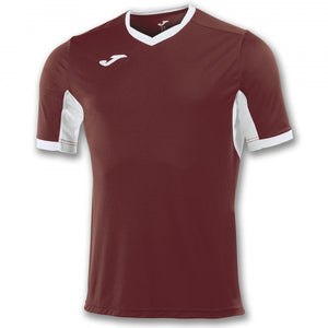 JOMA T-SHIRT CHAMPION IV BURGUNDY-WHITE S/S