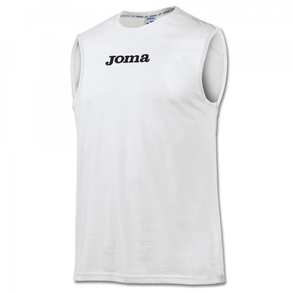 JOMA NANTES T-SHIRT COTTON WHITE SLEEVELESS -PACK 10-