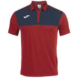 JOMA POLO SHIRT WINNER COTTON RED-NAVY S/S