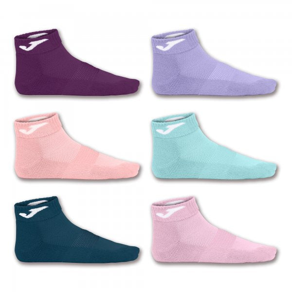 JOMA ANKLE SOCK PINK-PUR-SALM-BUR-TUR-NAV -PACK 12 PRS-