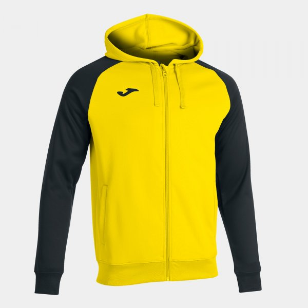 JOMA ACADEMY IV ZIP-UP HOODIE YELLOW BLACK