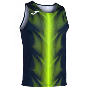 JOMA OLIMPIA T-SHIRT DARK NAVY-FLUOR YELLOW SLEEVELESS