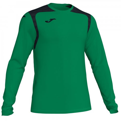 JOMA T-SHIRT CHAMPION V GREEN-BLACK L/S