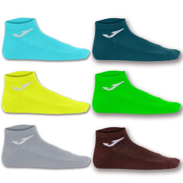 JOMA INV SOCK BROW-YEL-GREE-TUR-GRE-NAV -PACK 12 PRS-